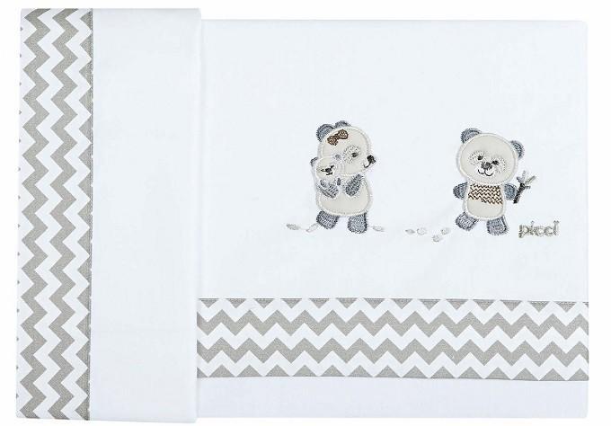 Picci Set Draps pour Lit bébé Bobo Zig Zag