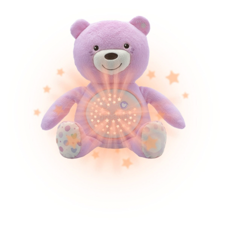 Chicco Ourson projecteur Baby Bear Rose