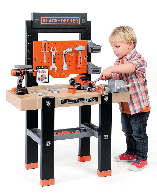 Tavolo giocattolo da lavoro in legno per bambini
