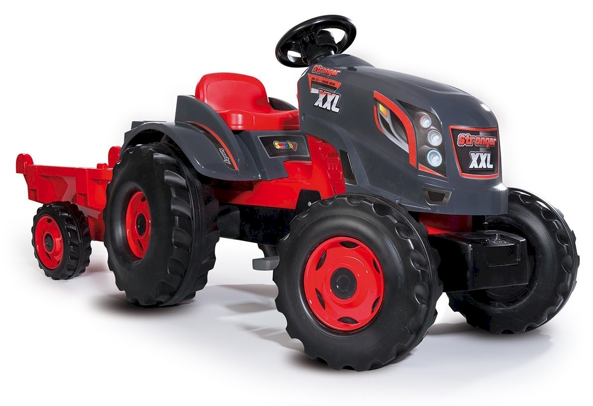 Smoby Tracteur Stronger XXL + Remorque