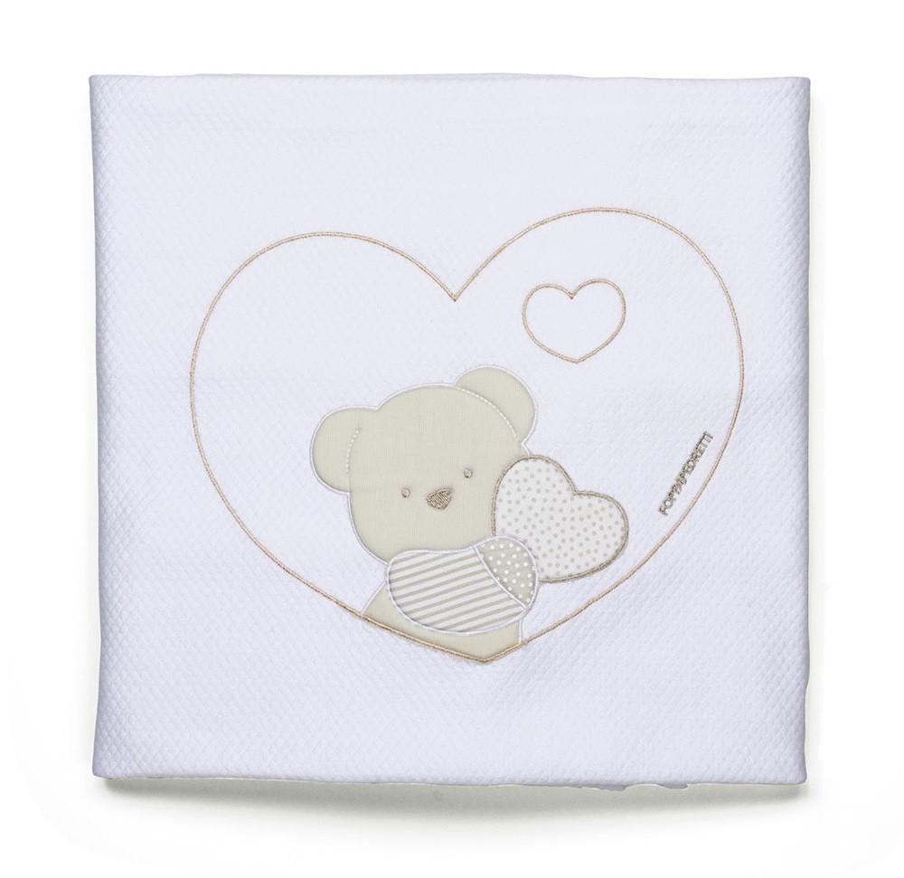 Foppapedretti Decke aus Baumwolle Dolcecuore