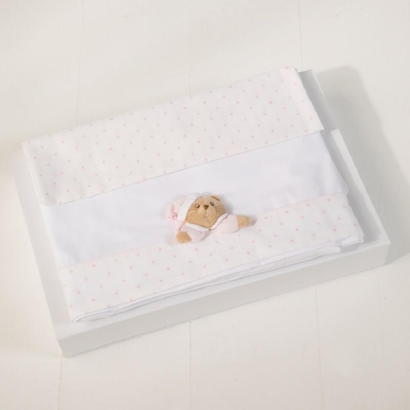 Nanan Kinderbettwäsche Star Rosa