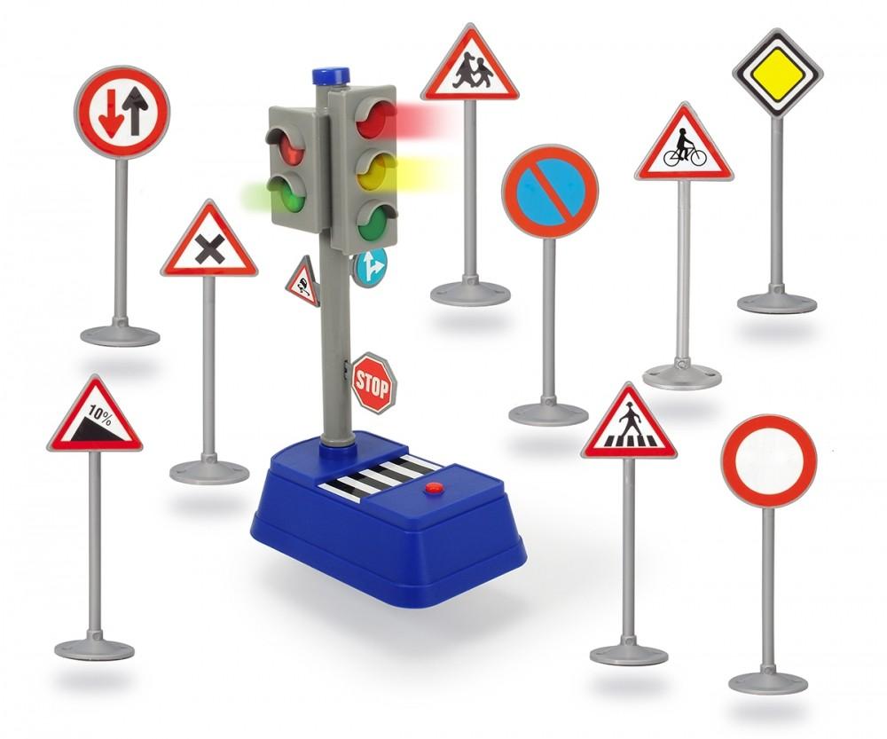 Ampel und Verkehrszeichnen