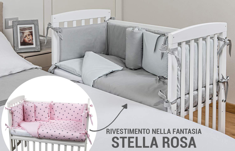 Cuna Lella Picci Estrella Rosa