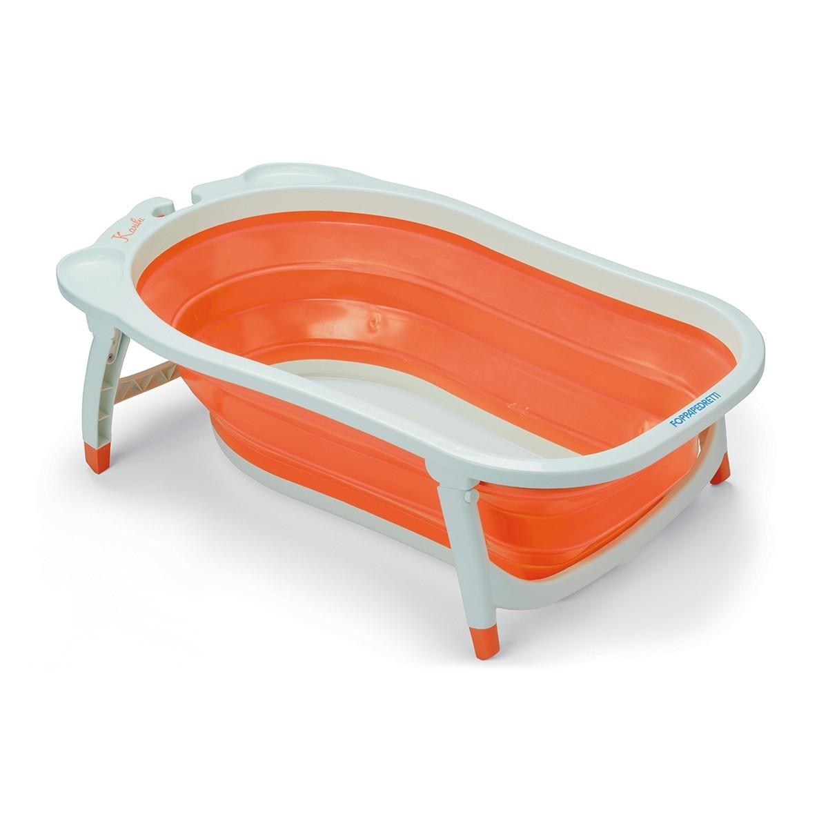 Foppapedretti biegsame Baby Badewanne Soffietto Orange