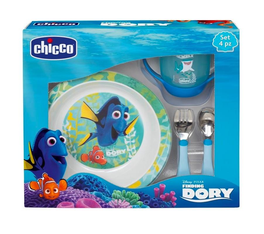 Coffret Repas Finding Dory Chicco Bleu