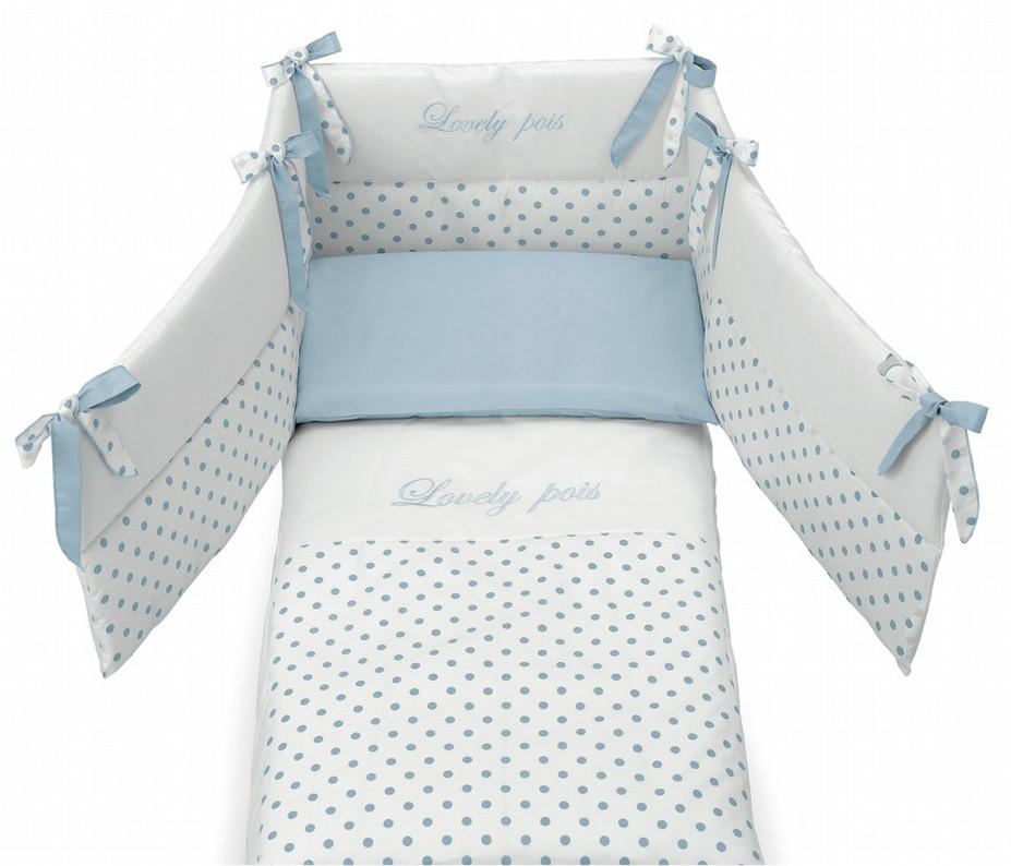 Azzurra Design Steppdecke und 3-Seitige Nestchen Contact
