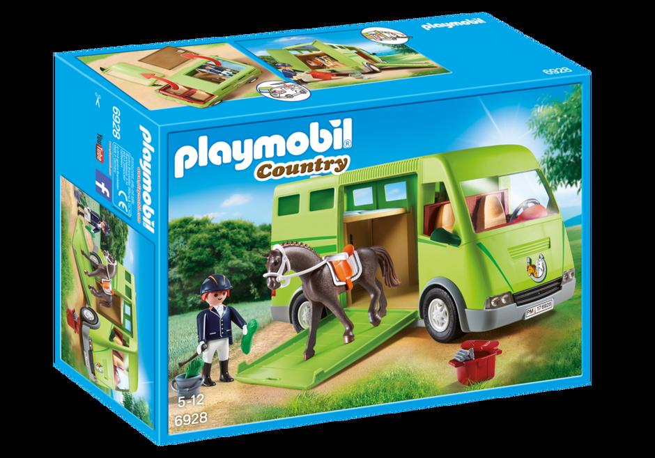 Playmobil Cavalier avec van et cheval