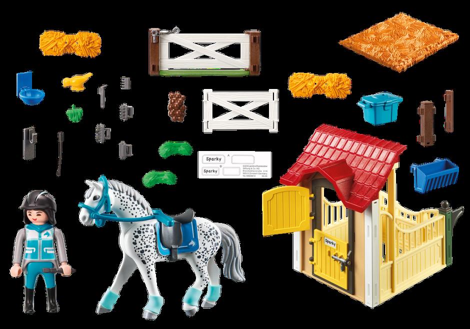 Playmobil Box avec cavalière et cheval