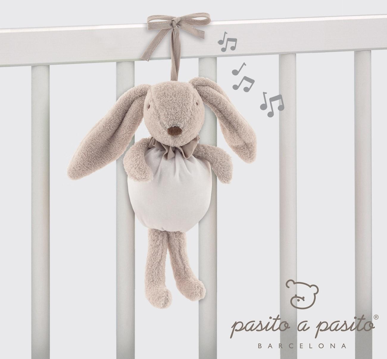 Coniglietto Musicale Pasito a Pasito Beige