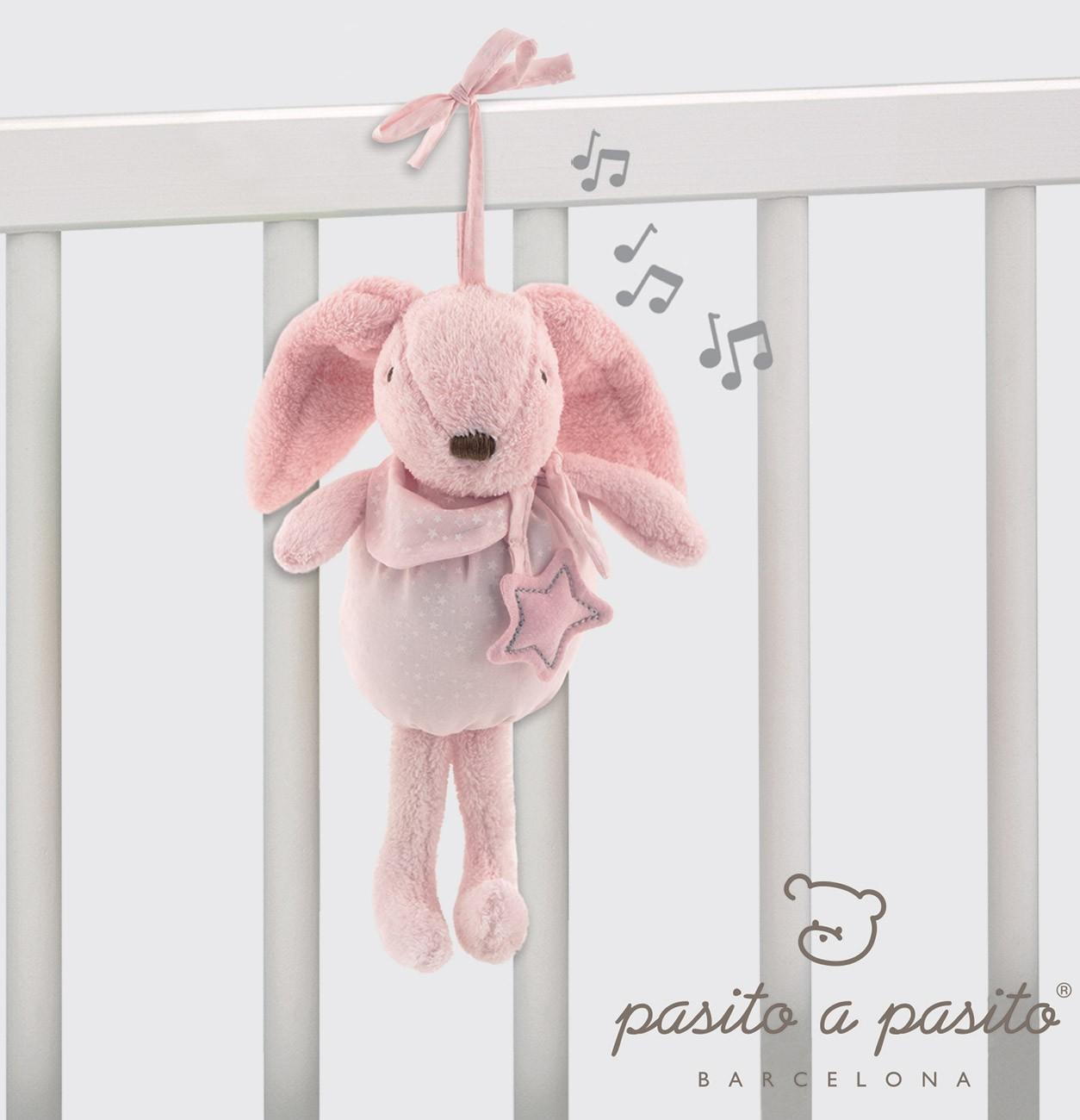Coniglietto Musicale Pasito a Pasito Rosa