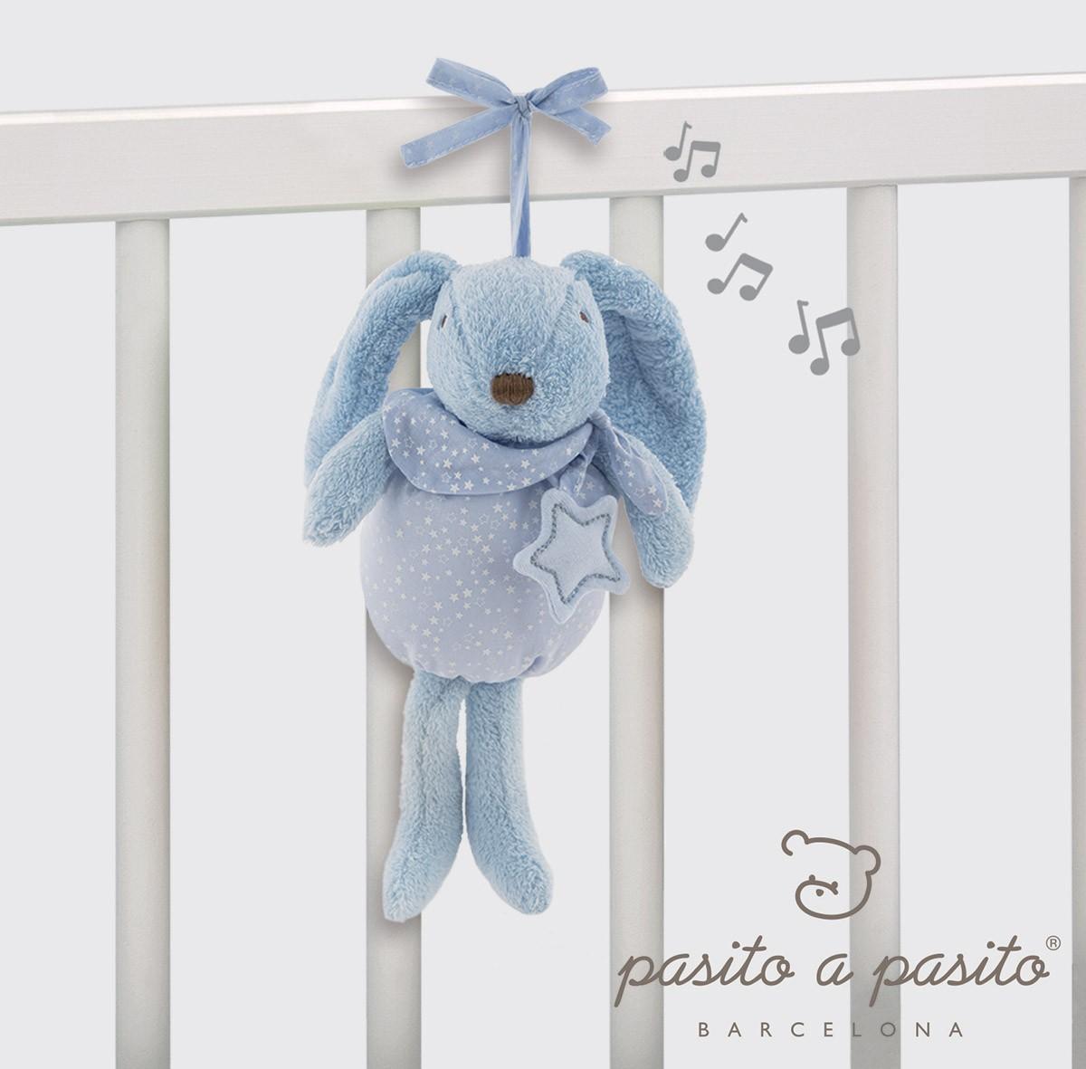Coniglietto Musicale Pasito a Pasito Azzurro
