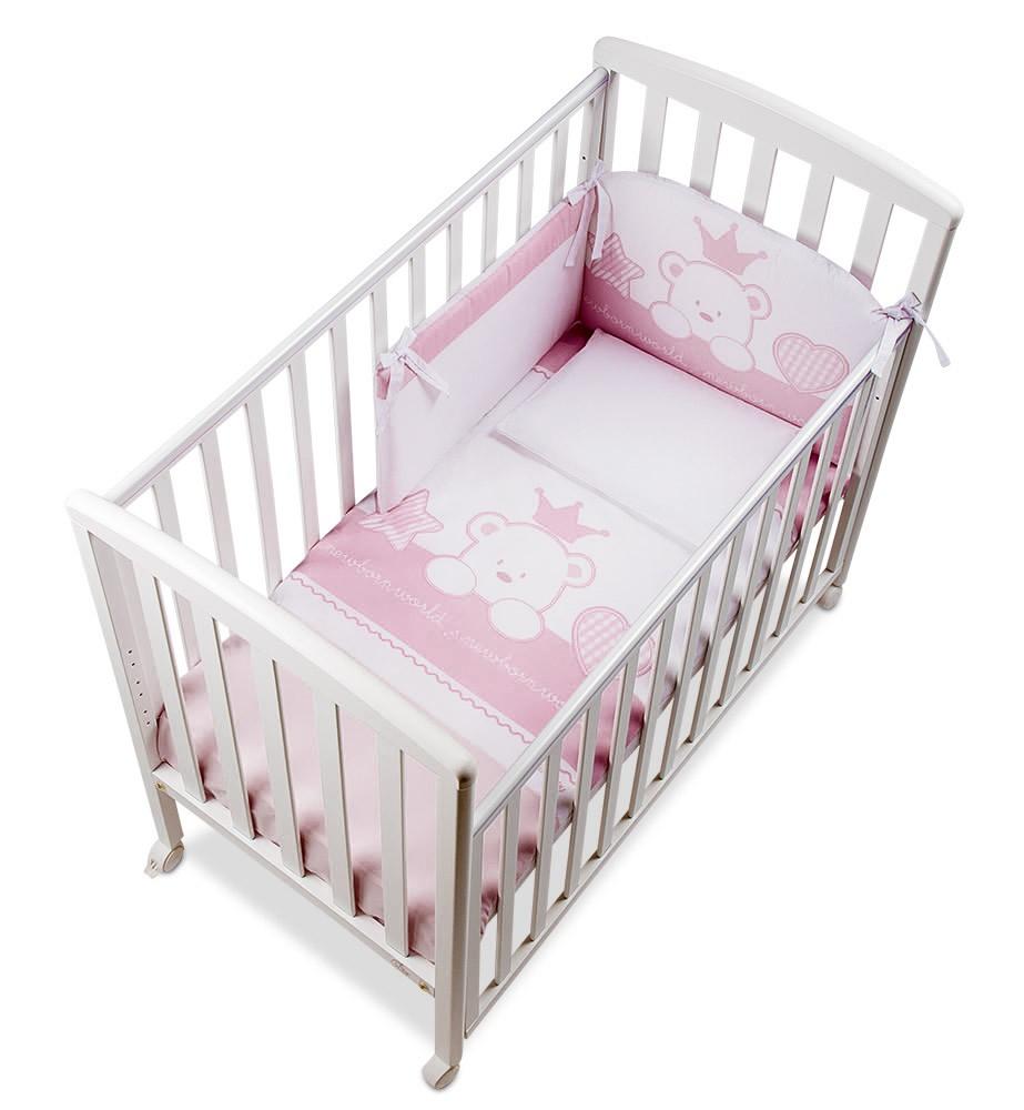 Lettino Q.lletto ItalBaby Completo Baby Re Rosa