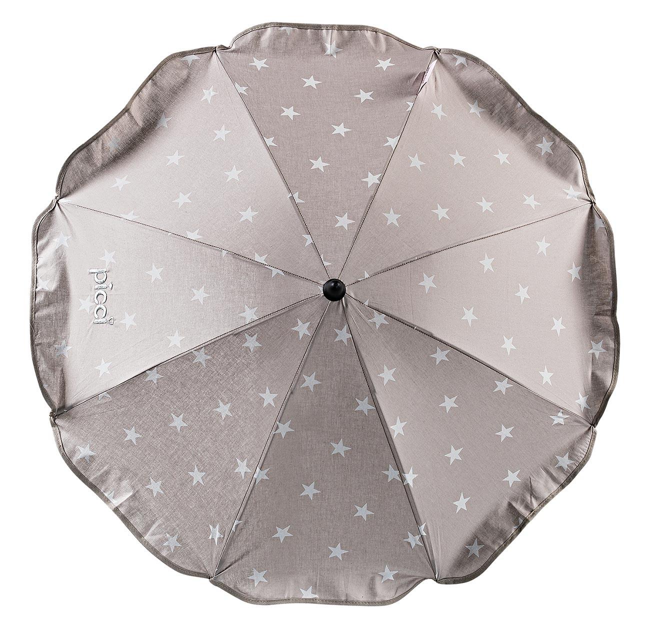 Sombrilla con estrellas para silla de paseo Beige