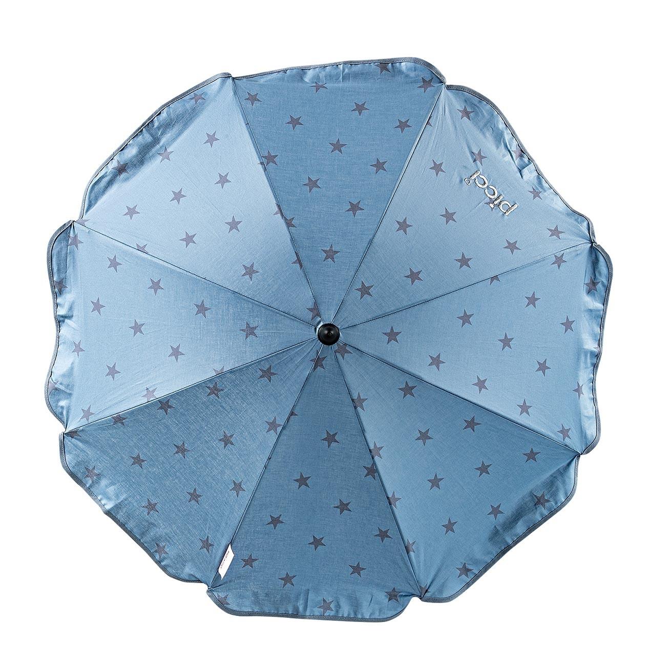 Sombrilla con estrellas para silla de paseo Azul