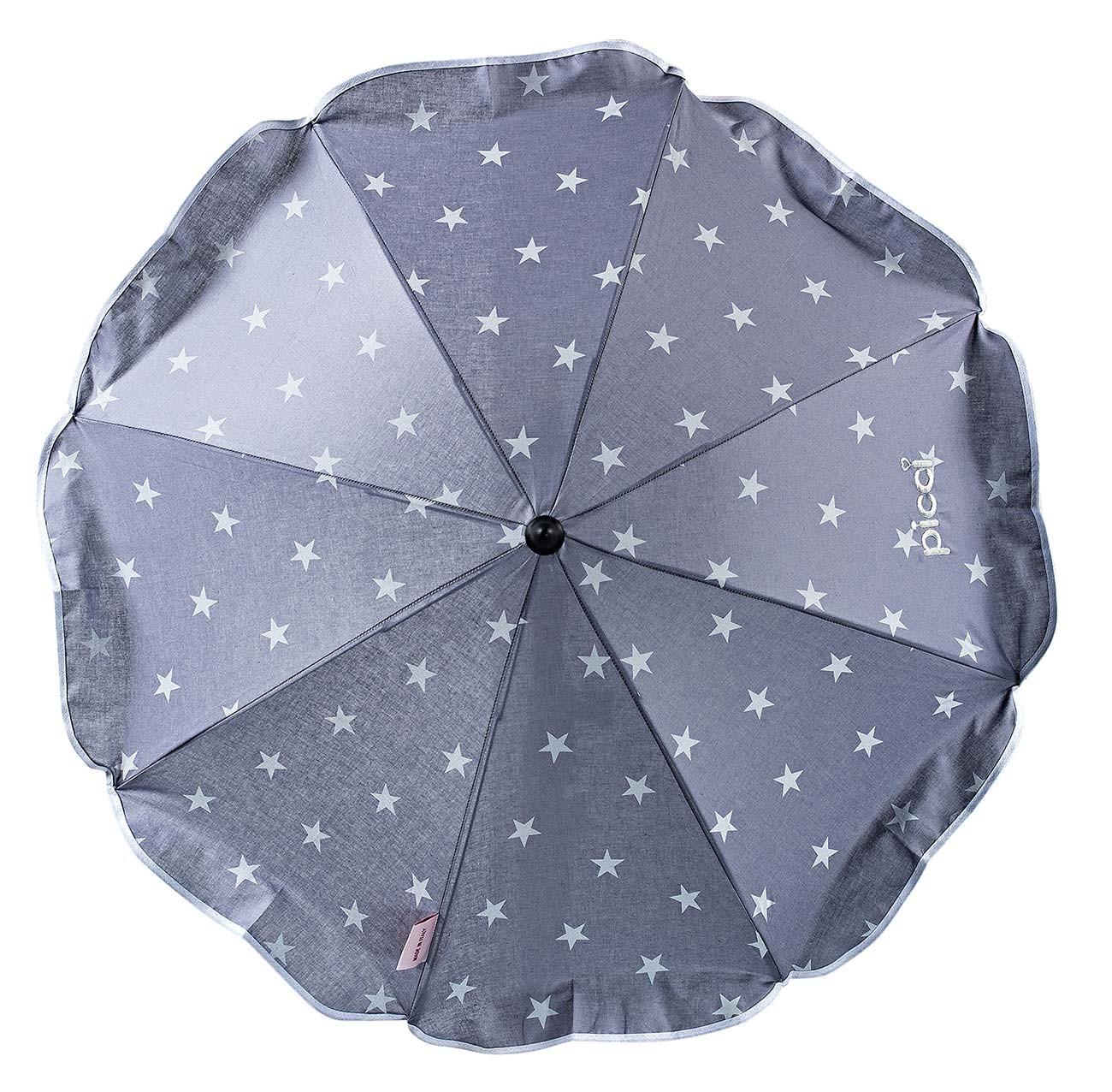 Sombrilla con estrellas para silla de paseo Gris