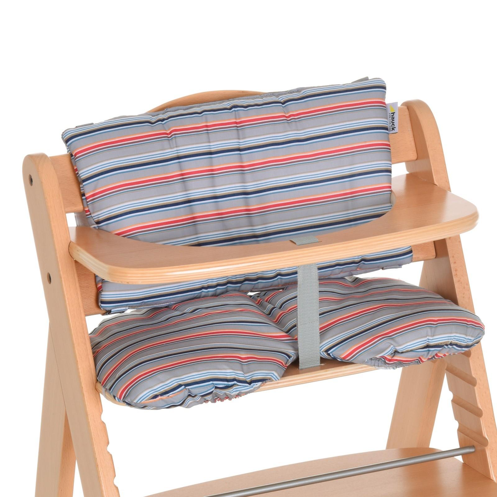 Coussin d'assise chaise haute Multi Stripe Grey