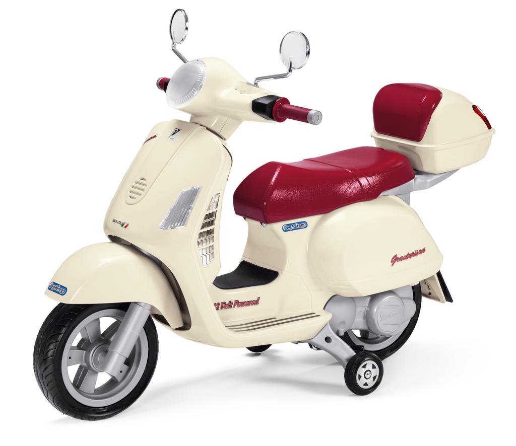 Moto Elettrica Vespa Peg Perego Bianca