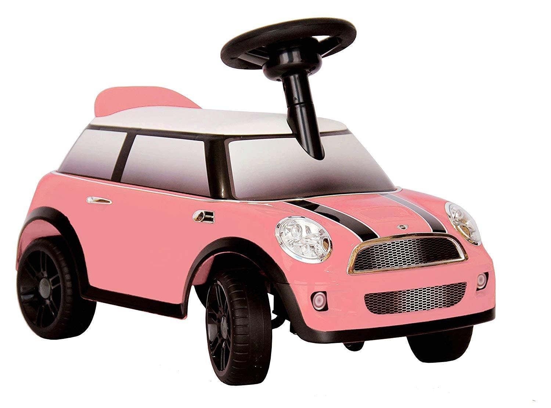 Auto Cavalcabile Mini Cooper Rosa