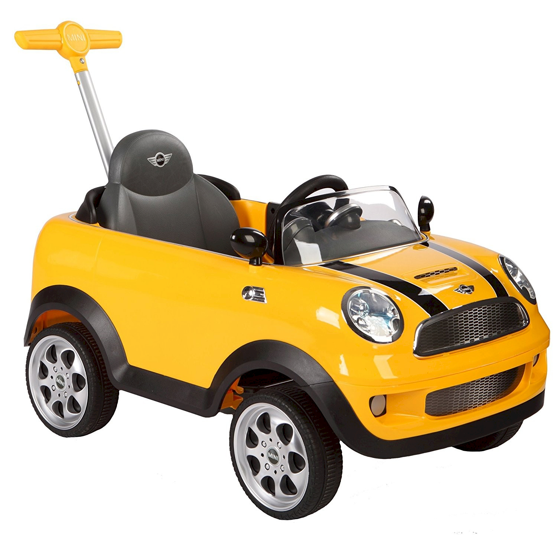 Auto Cavalcabile a spinta Mini Cooper Giallo