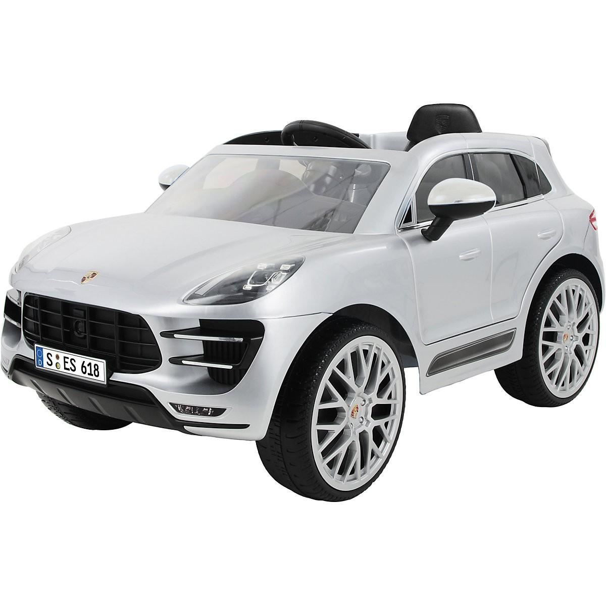 Kinderauto Porsche Macan Turbo Grau
