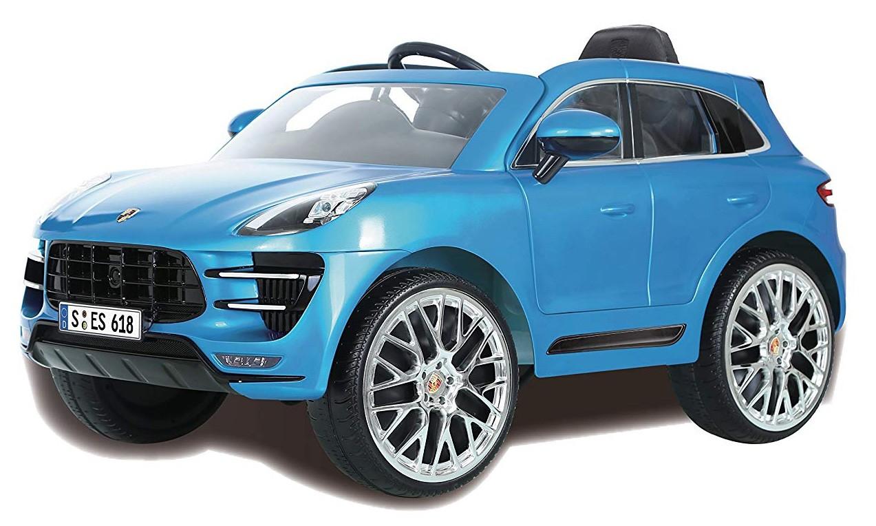 Voiture Électrique Porsche Macan Turbo Bleu