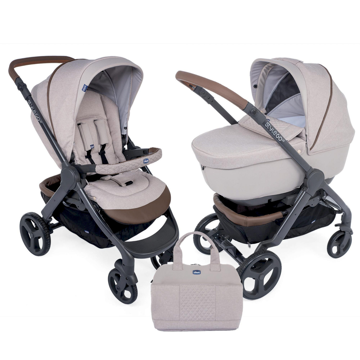 Passeggino Duo Stylego Up Crossover Beige