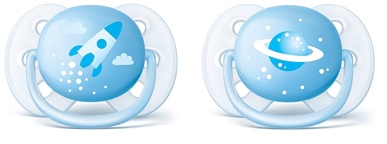 Avent SucetteUltra Soft 0-6 Mois Bleu Ciel
