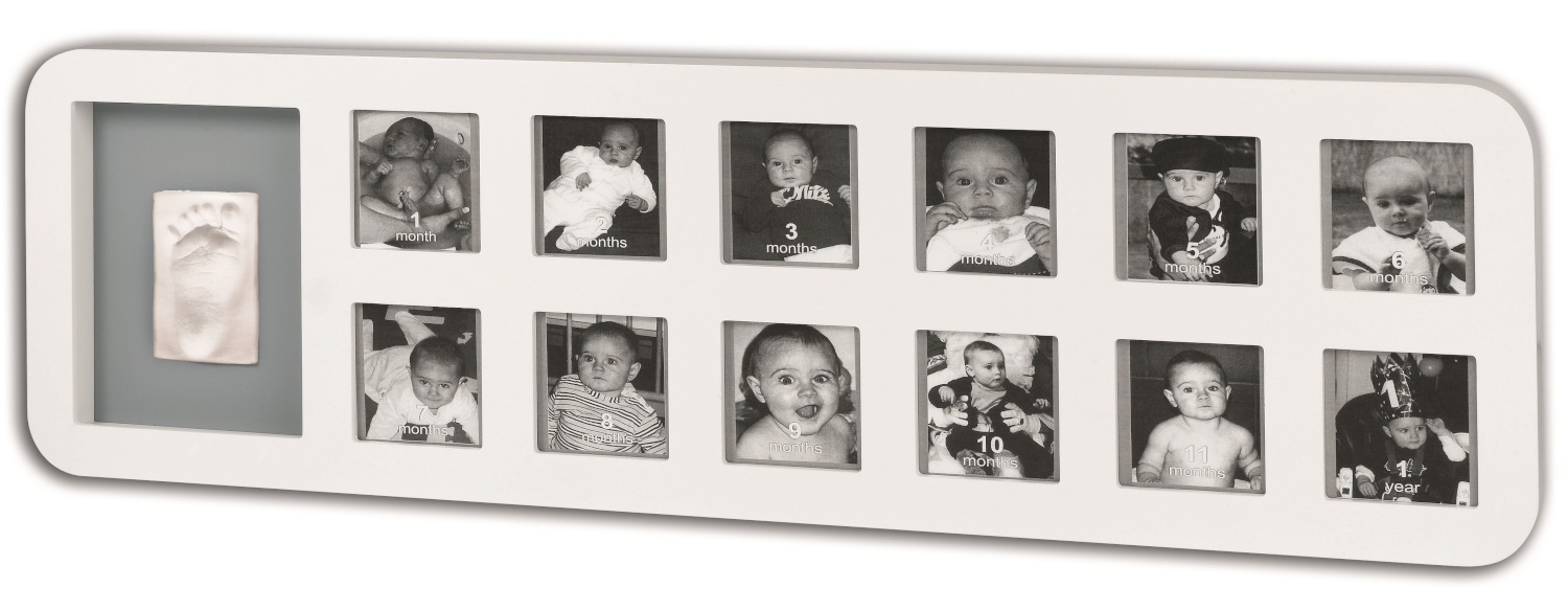 Baby art 1 st year print frame