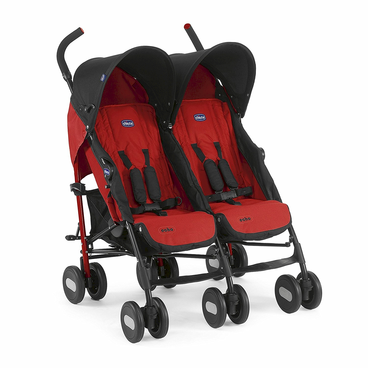 Chicco Zwillingskinderwagen Echo Twin Red