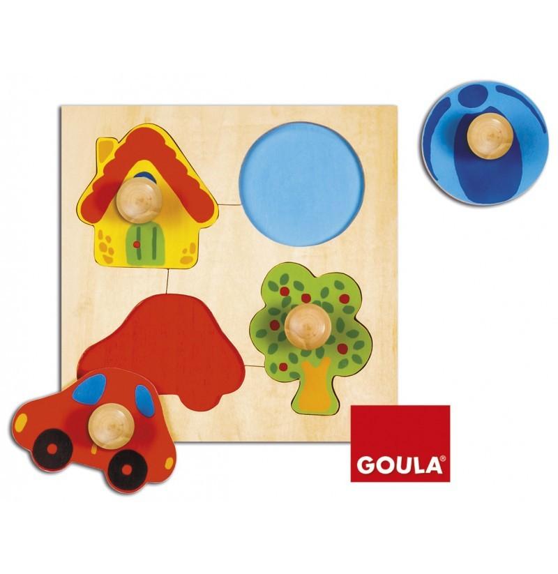 Puzzle in legno - Forme e Colori