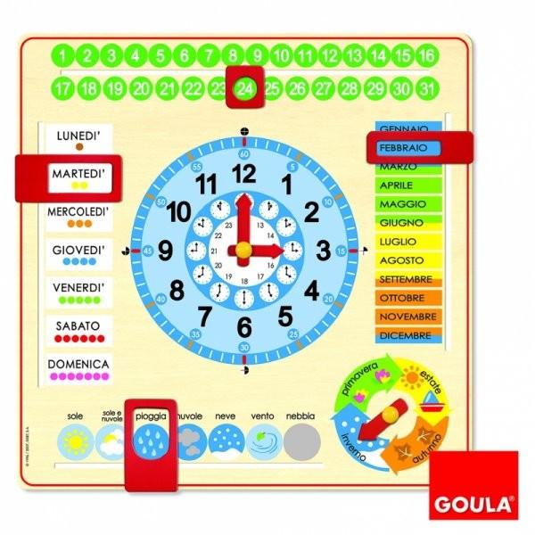 Orologio e Calendario Didattico - Italiano