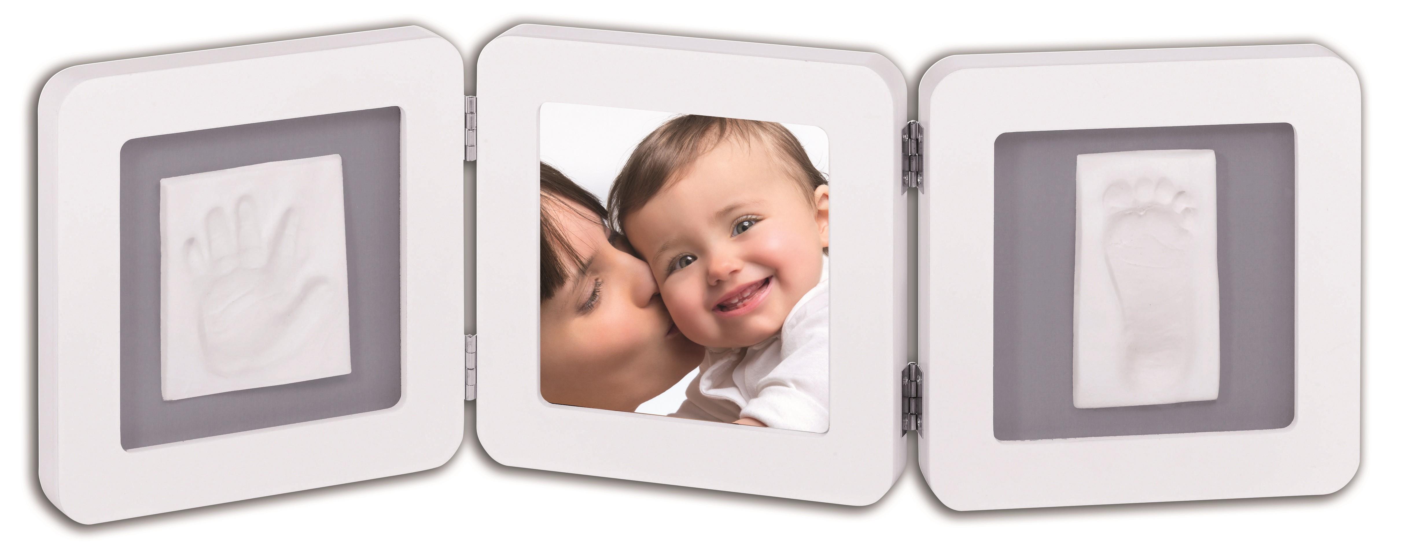 Double Print Frame Baby Art Bianco