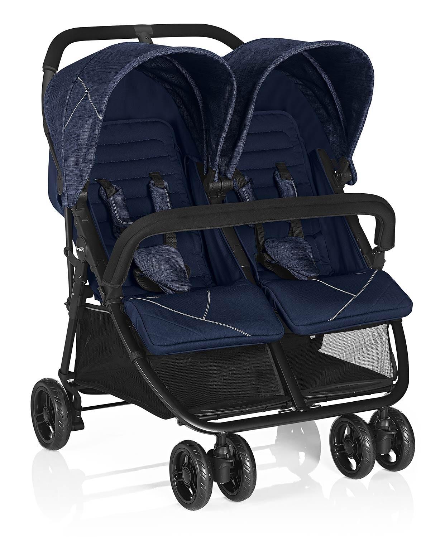 Zwillingskinderwagen InDue Blue Jeans