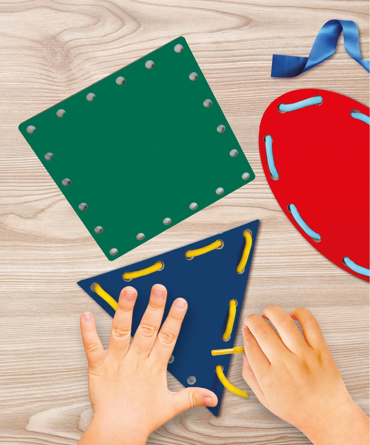 Forme e Lacci - Gioco Montessori
