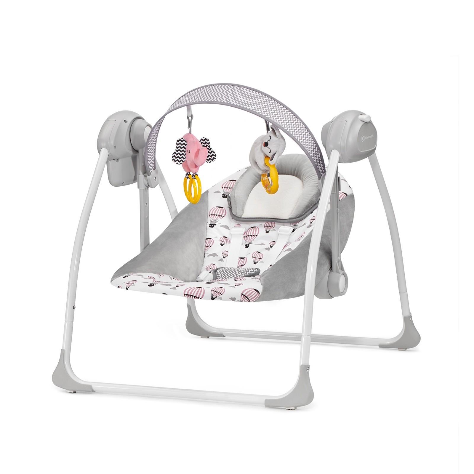 Kinderkraft Wippe und Liegestuhl 2 in 1 Flo Rosa