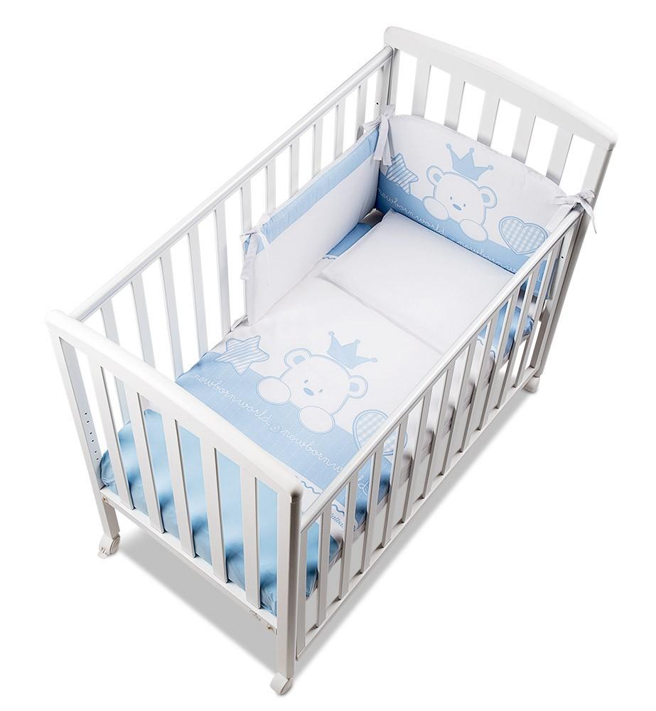 Piumone Paracolpi Baby Re Azzurro