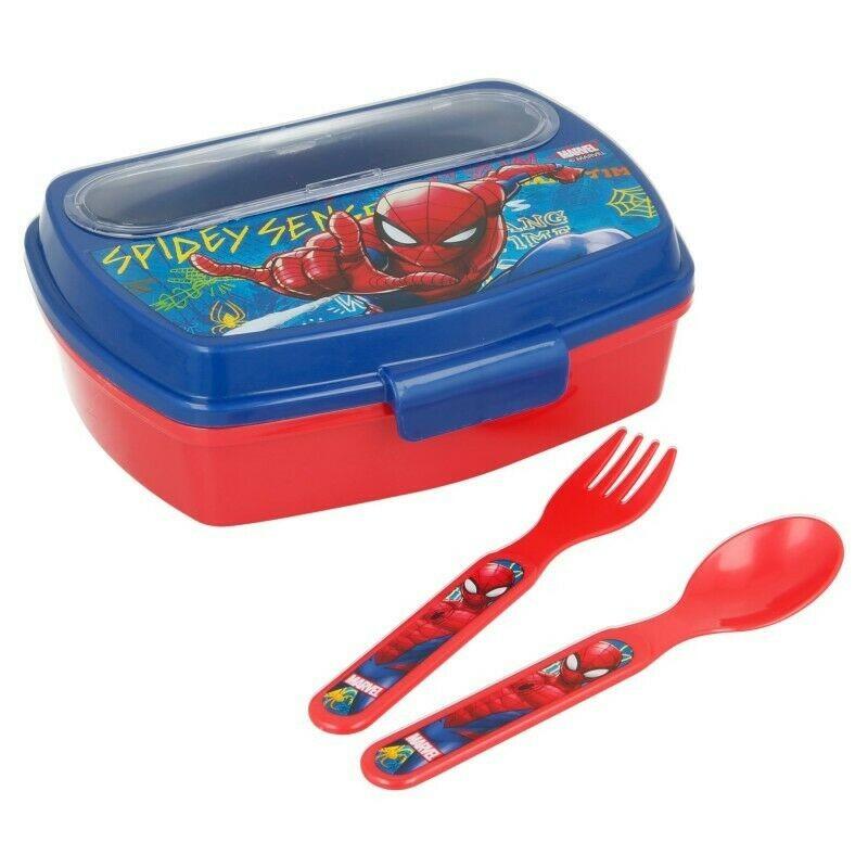 Disney Snackbox mit Bestecken Spiderman