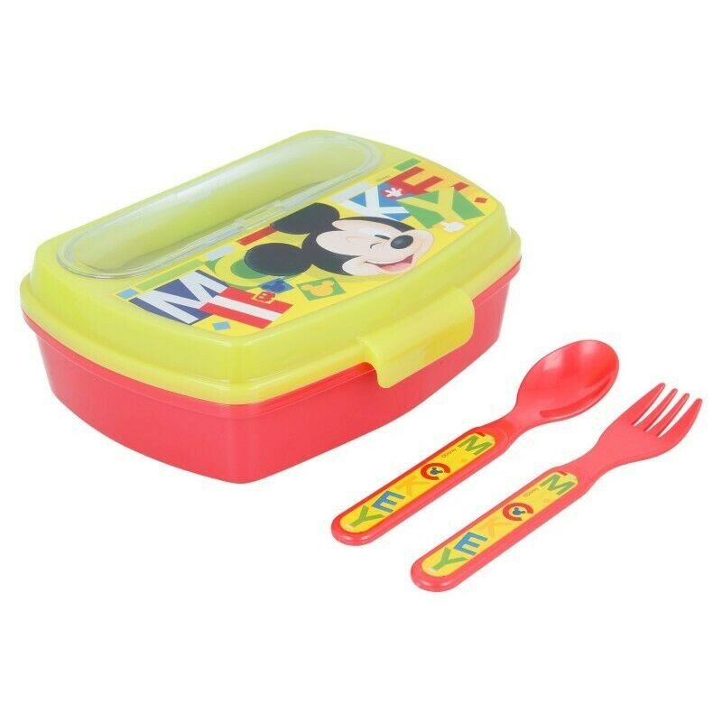 Coffre Repas avec Couverts Mickey Mouse