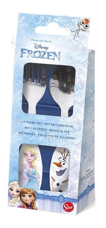 Set 2 Couverts en Acier - Disney La Reine des Neiges