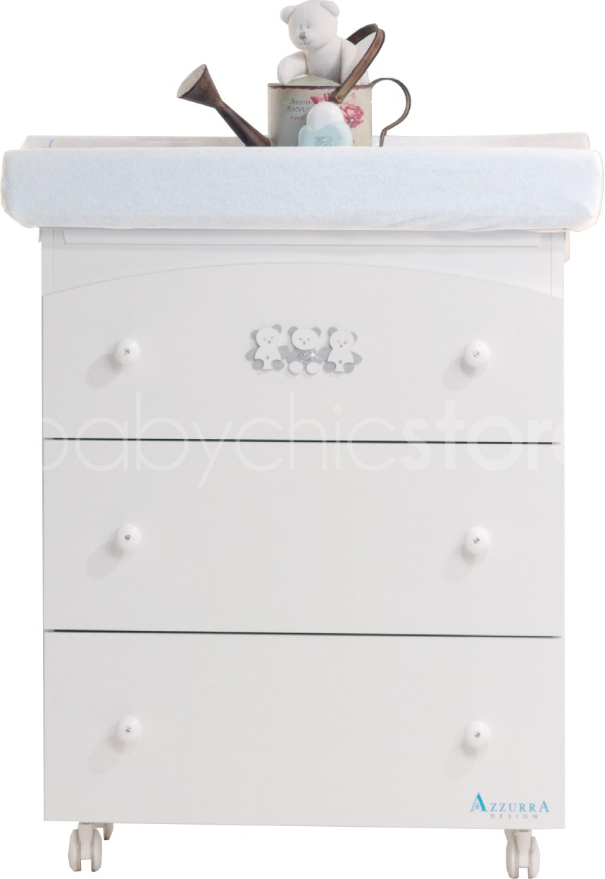 Commode à langer Fun Diamonds Blanc
