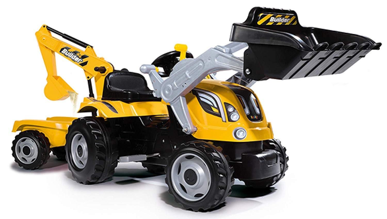 Smoby Tracteur Builder Max + Remorque