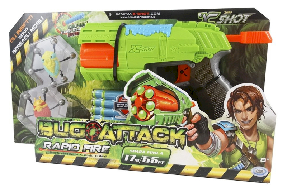 Juguetes deportivos Bug Attack Rapid Fire
