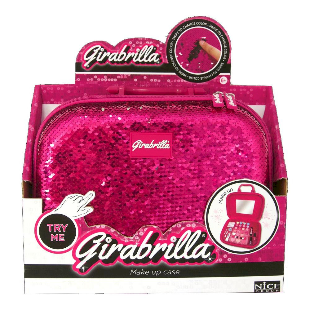 Girabrilla Valigetta Make Up Rosa/Argento