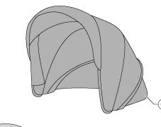 Capotta Carrozzina Aptica Mineral Grey