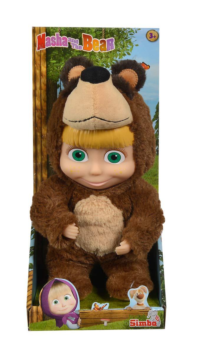 Bambola Masha con costume da Orso