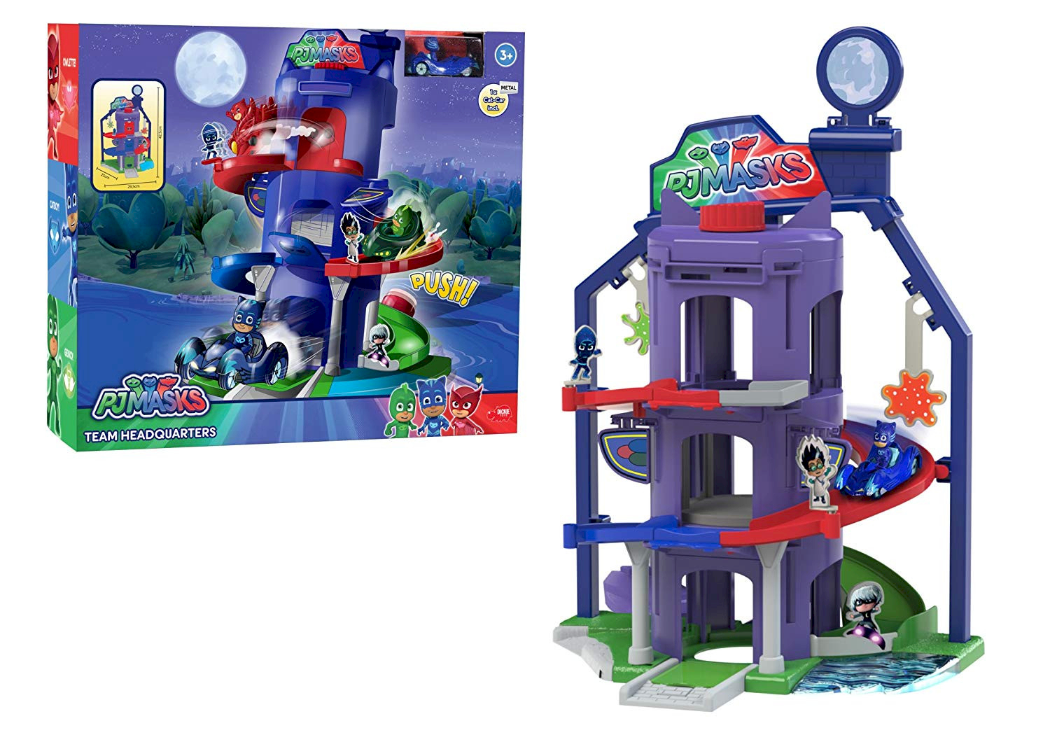PJ Masks Quartier général Pyjamasques + Cat-Car