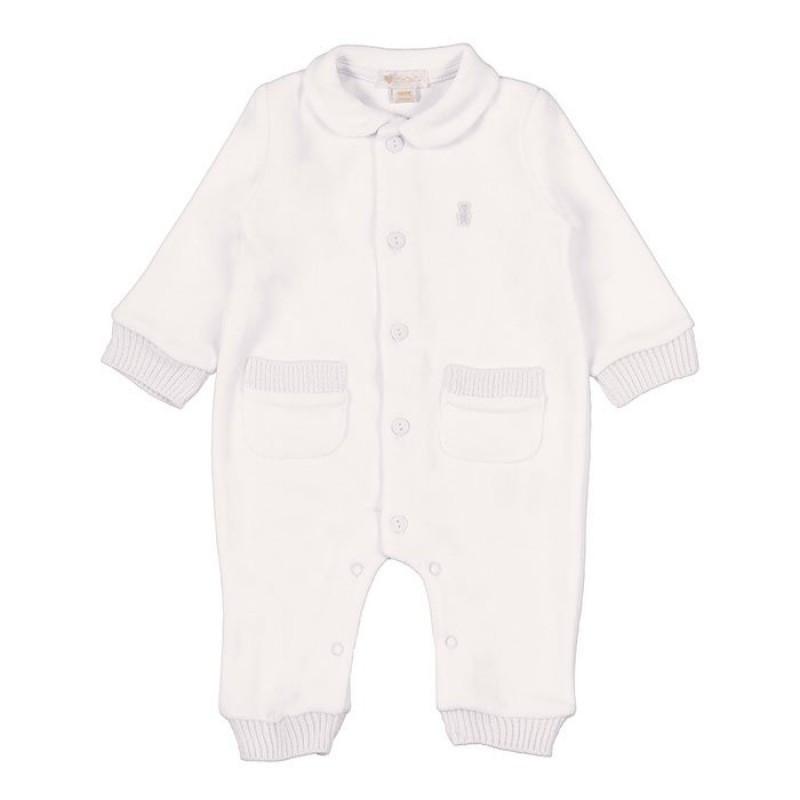 Pyjama avec Poches 1 Mois - Crème