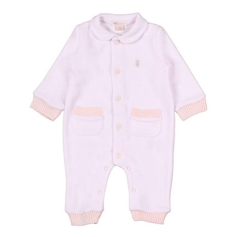 Pyjama avec Poches 1 Mois - Rose