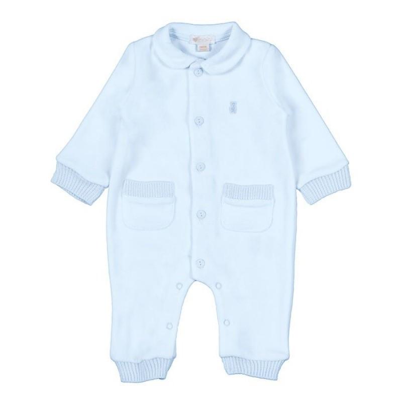 Strampler mit Taschen - 1 Monat Blau
